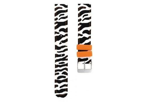 Twistiti Twistiti Polsbandje Zebra (zonder uurwerk)