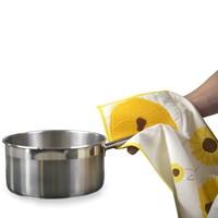 Charles Viancin zonnebloem handdoek/pannenlap
