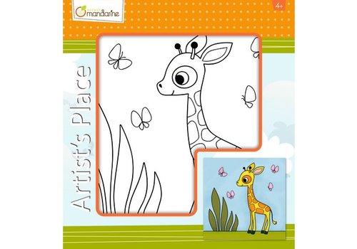 Avenue Mandarine Avenue Mandarine canvas om te beschilderen Giraf