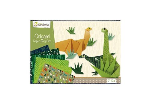 Avenue Mandarine Avenue Mandarine Creative Box Origami Dinosaurussen