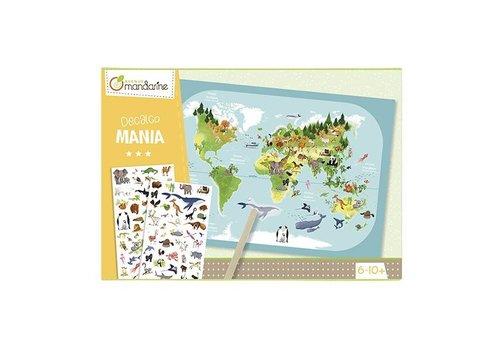 Avenue Mandarine Avenue Mandarine Creative Box Decalcomanie Planisfeer