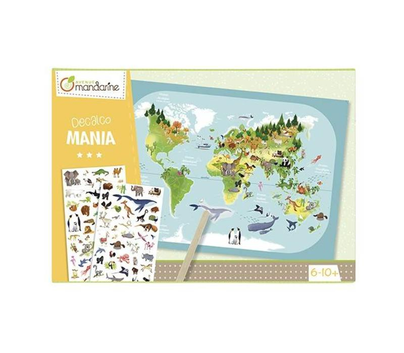 Avenue Mandarine Creative Box Decalcomanie Planisfeer