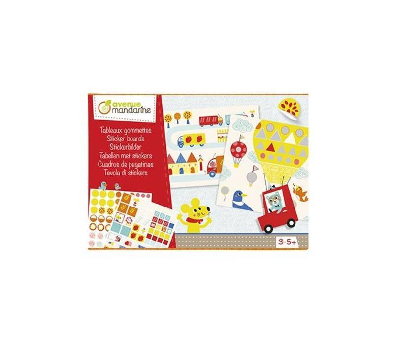 Avenue Mandarine Creative Box Sticker Boards Vormen In Het Verkeer