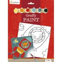 Avenue Mandarine Canvas om te Beschilderen Beertje in Raket + Verf