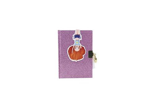 Avenue Mandarine Avenue Mandarine Glitter Dagboek met slot paars