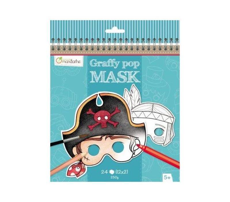 Avenue Mandarine Graffy Pop Mask Jongens