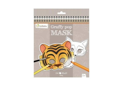 Avenue Mandarine Avenue Mandarine Graffy Pop Mask Dieren