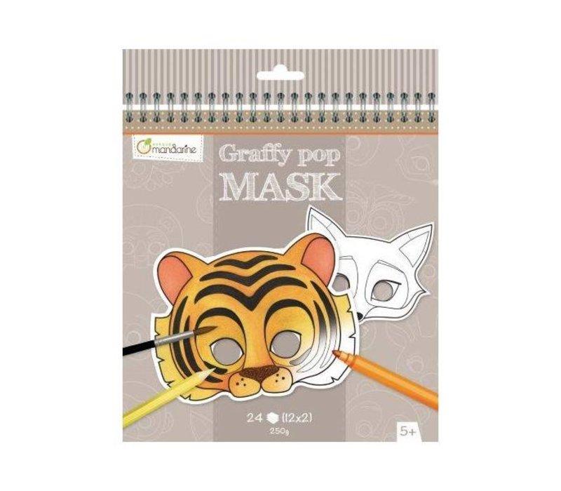 Avenue Mandarine Graffy Pop Mask Dieren