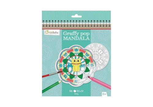 Avenue Mandarine Avenue Mandarine Graffy Pop Mandala Dieren