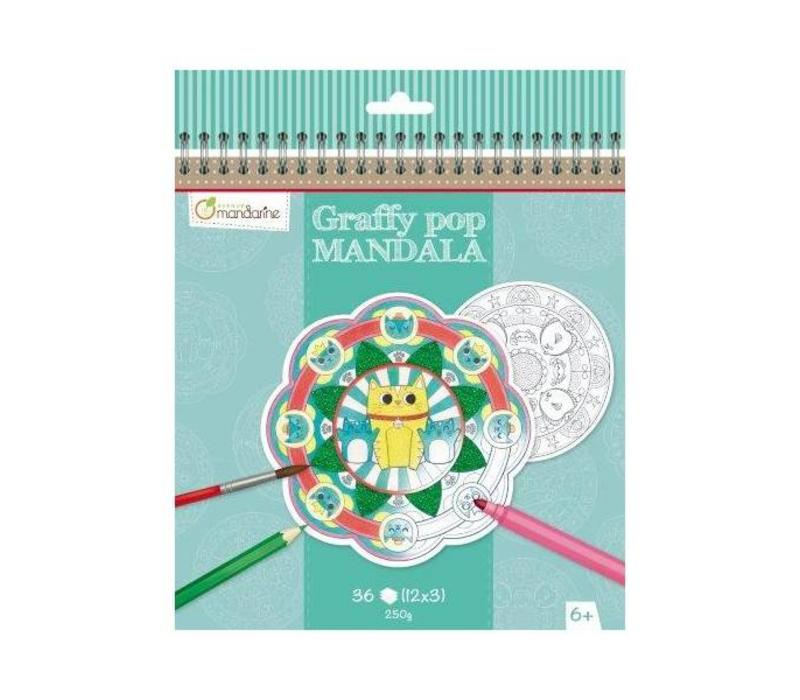 Avenue Mandarine Graffy Pop Mandala Dieren
