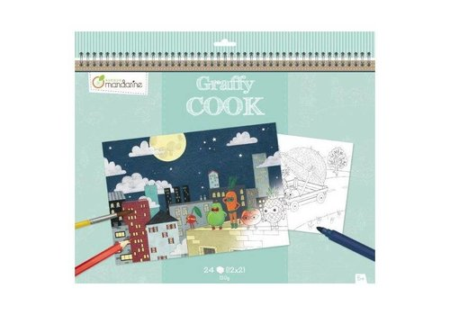 Avenue Mandarine Avenue Mandarine Graffy Cook Placemat, Super vegetables