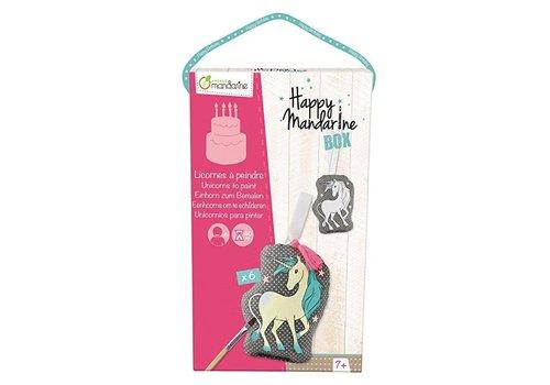 Avenue Mandarine Avenue Mandarine Happy Box Eenhoorns om te schilderen