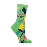 Blue Q women's socks 'It's my parents fault'