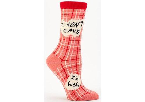 Blue Q Blue Q women's socks 'I don't care, I'm high'