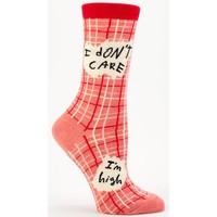 Blue Q women's socks 'I don't care, I'm high'