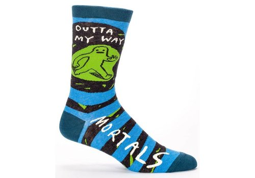 Blue Q Blue Q socks for men 'Outta My Way, Mortals'