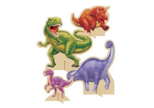 Creative Party 'Dino expeditie' tafeldecoratie