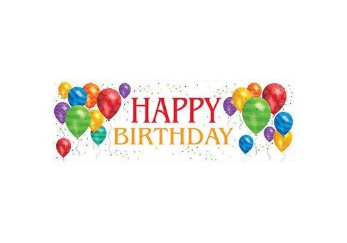 Creative Party 'Happy Birthday Ballonnen' Spandoek