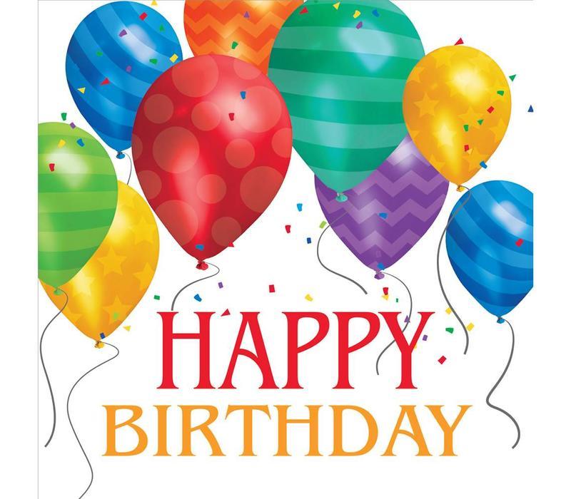 'Happy Birthday Balloons' Napkins