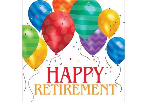 Creative Party Happy birthday balloons servetten 'Happy retirement'