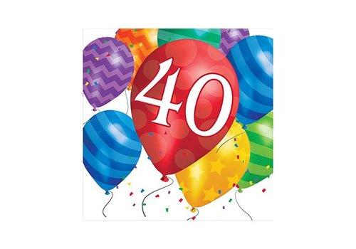 Creative Party Happy birthday balloons servetten 40 jaar
