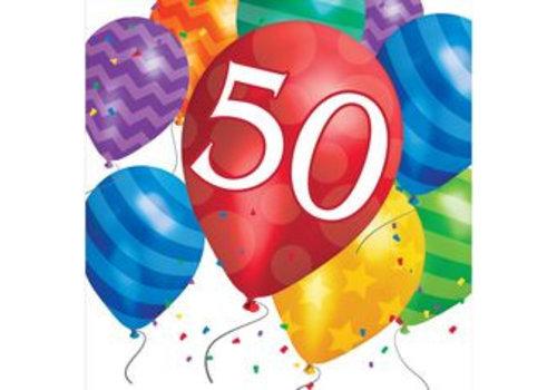 Creative Party 'Happy Birthday 50years' Napkins