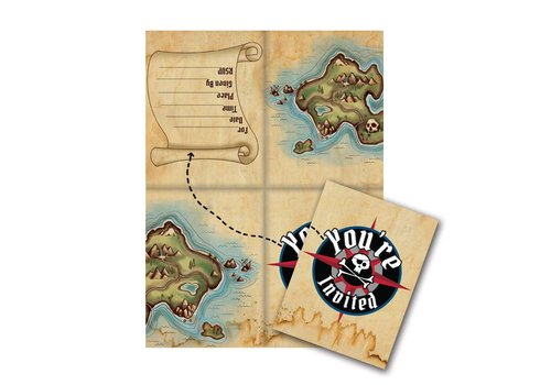 Creative Party Creative Party 'Pirate Party' Invitations 8 pcs