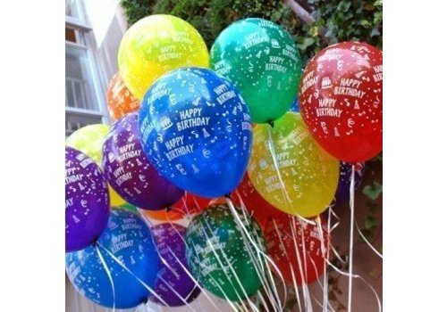 Creative Party Happy birthday latex ballonnen 6 stuks
