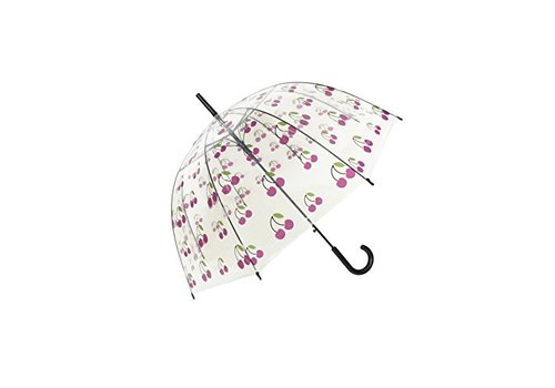 Smati Smati Women's umbrella Cherries transparent