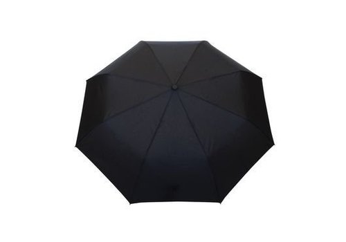 Smati Smati Foldable Men's umbrella black with wooden handle