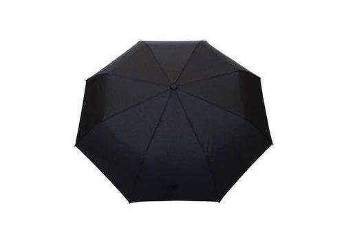 Smati Smati Opplooibare Mannenparaplu zwart met houten handgreep