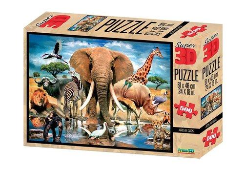 Prime3D Prime 3D Puzzel Afrikaanse Oase 500 st