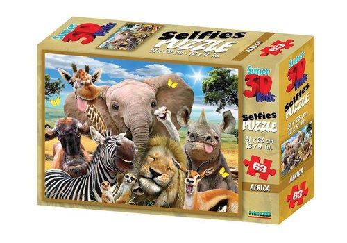 Prime3D Prime 3D Puzzel Africa Selfie 63 st