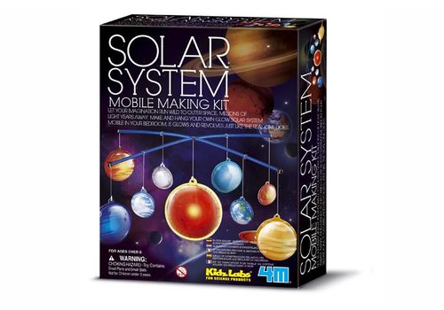 4M 4M KidzLabs Solar System Mobile Building Kit Glow-in-the-dark