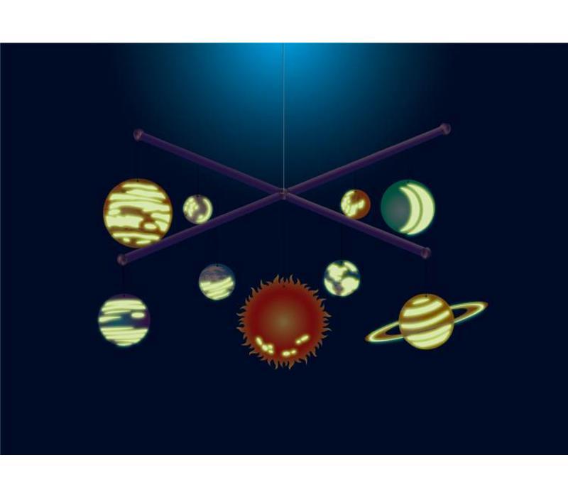 4M KidzLabs Bouwset Zonnestelselmobiel Glow-in-the-dark