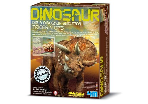 4M 4M KidzLabs Dig Up Your Dinosaur Triceratops