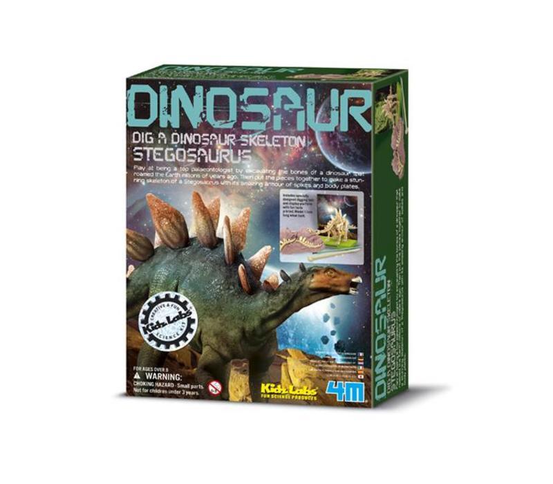 4M KidzLabs Dig Your Dinosaur On Stegosaurus