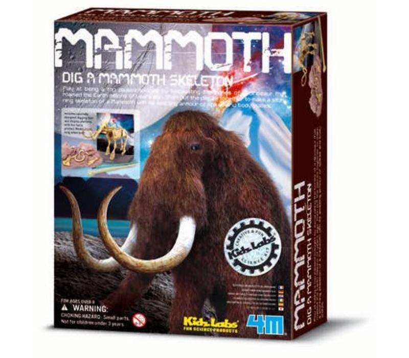 4M KidzLabs Dig Your Dinosaur On Mammoth