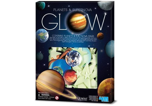 4M 4M KidzLabs Fosforescerend Nova : Planeten & Supernova