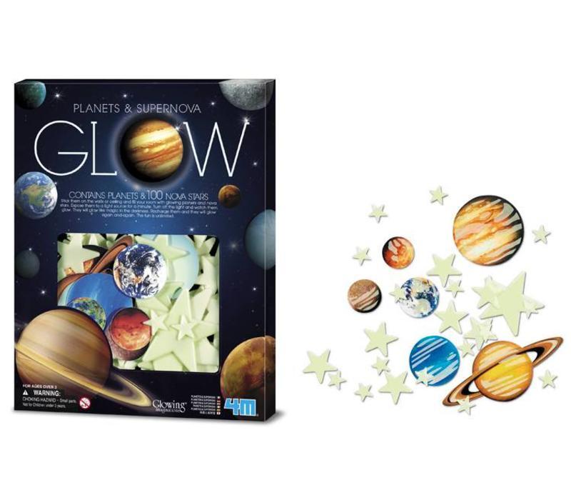 4M KidzLabs Fosforescerend Nova : Planeten & Supernova