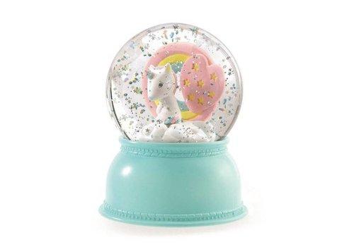 Djeco Djeco Nightlight Snow Ball Unicorn