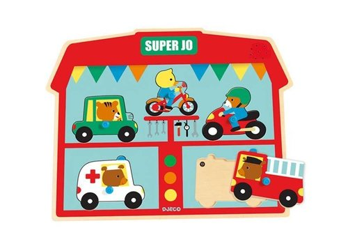Djeco Djeco  Plug-in puzzle  Super Jo