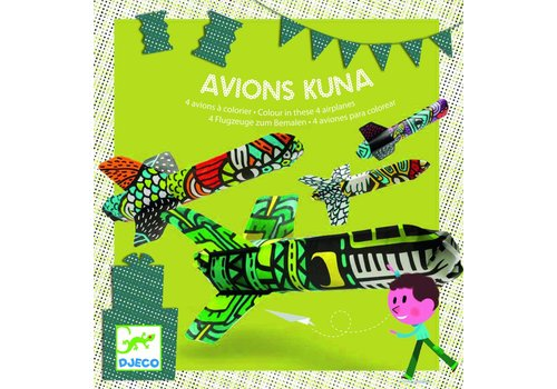 Djeco Djeco Airplane Illustrate -Set Kuna