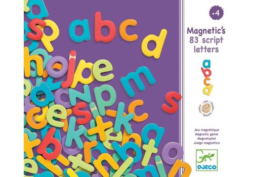 Djeco Djeco Wooden Magnetic Letters Script