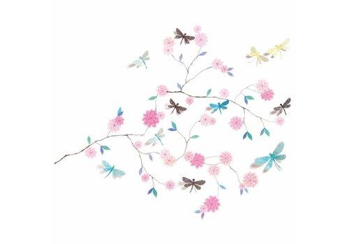 Djeco Djeco Wall stickers Volume Dragonfly Tree