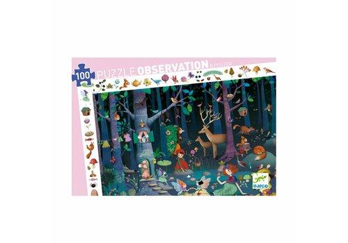 Djeco Djeco Puzzel La Forêt Enchantée 100st