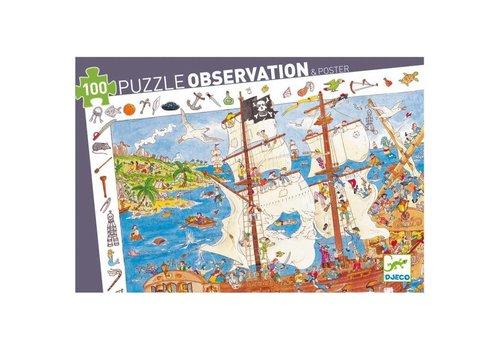 Djeco Djeco Observatiepuzzel De Piraten 100 stuks
