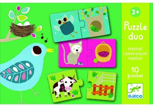 Djeco Djeco puzzel dieren habitat