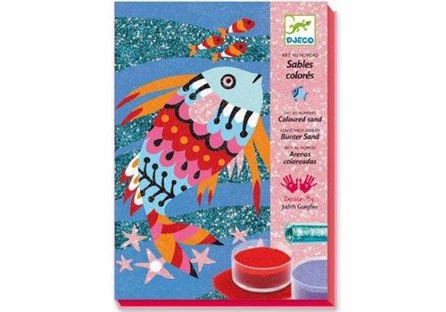 Djeco Djeco Zand- en Glitterschilderijen Regenboog Vissen