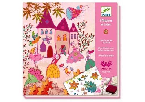 Djeco Djeco stempel en sjabloonset prinsessen